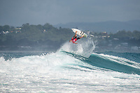 Snapper Rocks, Coolangatta Queensland Australia (Monday, March 14 2016): Joel Parkinson (AUS) Round Two of the first WCT event of the year, the Quiksilver Pro Gold Coast, was completed this morning followed by Round Three and two heats of Round Four.  The upsets continued with the Tour Rookies taking out out a good proportion of the heats with Stu Kennedy(AUS) again showing great form by defeating Gabriel Medina (BRA). The event was put on hold for over 2 hours while organisers waited for the tide to drop. The surf was in the 4'-5' range most of the day.Photo: joliphotos.com