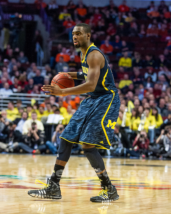 The University of Michigan men's basketball team fell to Wisconsin, 68-59, in the quaterfinals of the Big Ten Championship at the United Center in Chicago, Illinois in March 15, 2013.