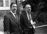Pix: Barry Wilkinson/SWpix.com. The Yorkshire Ripper Archive. 14th May 1979 - 11th May1980...COPYRIGHT PICTURE>>SIMON WILKINSON>>0870 092 0092>>..CID Jim Hobson and Peter Gilrain at the murder site of Barbara Leach.