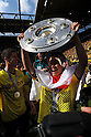 "Shinji Kagawa (Dortmund), MAY 14th, 2011 - Football : Shinji Kagawa of Dortmund celebrates with the Bundesliga Champions trophty ""Meisterschale"" after the Bundesliga match between Borussia Dortmund 3-1 Eintracht Frankfurt at the Signal Iduna Park in Dortmund, Germany. (Photo by FAR EAST PRESS/AFLO).."
