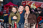 Jodie, John and Bridget O'Brien, Listowel, pictured at the Coca Cola Truck in Listowel on Sunday last.