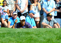 Tiger Woods lines his putt during the second round of the AT&T National at the Congressional Country Club in Bethesda, MD on Friday, July 3, 2009.  Alan P. Santos/DC Sports Box.Tiger Woods