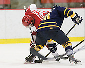Pier-Olivier Michaud (Harvard - 39), Connor Jones (Quinnipiac - 10) - The visiting Quinnipiac University Bobcats defeated the Harvard University Crimson 3-1 on Wednesday, December 8, 2010, at Bright Hockey Center in Cambridge, Massachusetts.