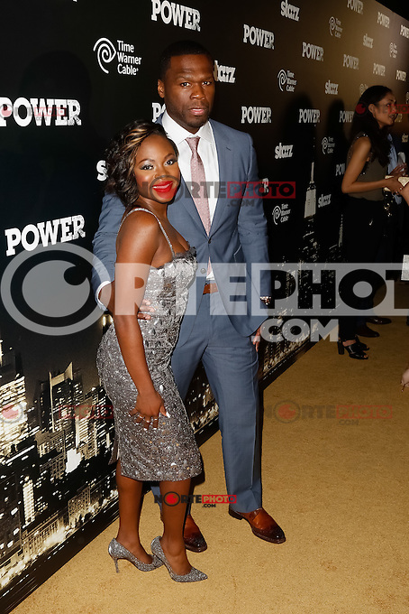 "New York, NY -  June 2 :  Executive Producer Curtis ""50 Cent"" Jackson and Guest attend the Power Premiere held at the Highline Ballroom on June 2, 2014 in New York City. Photo by Brent N. Clarke / Starlitepics"