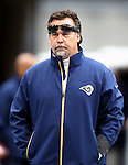 St. Louis Rams head Coach Jeff Fisher before their game against the Seattle Seahawks at CenturyLink Field in Seattle, Washington on  December 30, 2012.   ©2012. Jim Bryant Photo. All Rights Reserved.