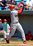 8 March 2006: David Eckstein, infielder for the St. Louis Cardinals, at bat during a Spring Training game against the Washington Nationals. The Cardinals defeated the Nationals 7-4 in 10 innings at Space Coast Stadium, in Viera, Florida...Mandatory Photo Credit: Ed Wolfstein.