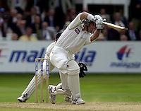 Photo Peter Spurrier.31/08/2002.Cheltenham & Gloucester Trophy Final - Lords.Somerset C.C vs YorkshireC.C..Yorkshire batting;  Matt Elliott.