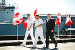 Canadian Prime Minister Stephen Harper at CFB Esquimalt in Victoria, British Columbia, Canada.