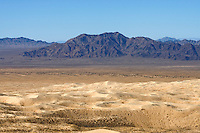 Barren landscape of the Mojave Desert, California.