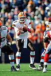 11 October 2009: Cleveland Browns' quarterback Derek Anderson takes a snap during a game against the Buffalo Bills at Ralph Wilson Stadium in Orchard Park, New York. The Browns defeated the Bills 6-3 for Cleveland's first win of the season...Mandatory Photo Credit: Ed Wolfstein Photo