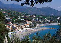 Italy, Liguria, Italian Riviera, Celle Ligure: resort at the Golfo di Genova