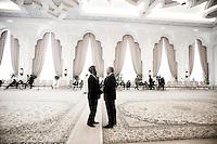 Qatar - Doha - Parliament of Qatar, Emir Diwanya, where the Darfur Peace Agreement has been signed between the Prime Minister of Qatar Sheikh HAMAD bin Jasim bin Jabir al-Thani and Mr Djibrill Bassole', Mediateur en chef conjoint de l'UA et de l'ONU