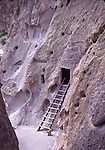 ladder to cliff dwelling at Bandalier National Monument