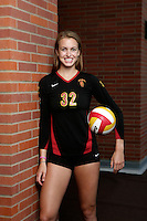 10 August 2010:  #32 Zoe Garrett MB Senior year  on the Pac-10 NCAA College Women's Volleyball team for the USC Trojans Women of Troy photographed at the Galen Center on Campus in Southern California. .Images are for Personal use only.  No Model Release, No Property Release, No Commercial 3rd Party use. .Photo Credit should read: &copy;2010ShellyCastellano.com