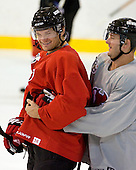 Patrick Elias and John Madden take part in the  first session on Saturday, September 15, 2007 of the New Jersey Devils training camp on Rink 2 of the Richard E. Codey Arena at South Mountain in West Orange, New Jersey...