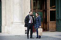 Roma 16 Marzo2013.Montecitorio, secondo giorno della  XVII legislatura..Matteo Orfini e Alessandra Moretti deputati del Partito Democratico .