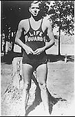 Photograph of Ronald Reagan as a Lifeguard, Lowell Park, Illinois, circa 1927..