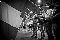 Corteo dei movimenti della destra radicale in piazza Susa per ricordare Sergio Ramelli, Enrico Pedenovi e Carlo Borsani, on April 29, 2014. Photo: Adamo Di Loreto/BuenaVista*photo