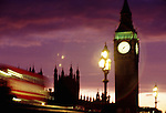 England, London, Big Ben and Houses of Parliament at dusk