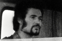 Pix: Barry Wilkinson/SWpix.com. The Yorkshire Ripper Archive. 09/1980..COPYRIGHT PICTURE>>SIMON WILKINSON>>0870 092 0092>>..The Ripper (Peter Sutcliffe) in a lorry cab.