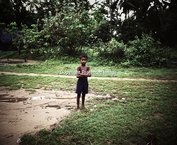 A little boy is seen in Dinghia village in Orissa, India.