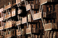 Fire escapes, Greenwich Village, Manhattan, New York City, New York, USA