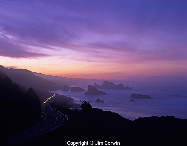 Highway 101 along Southern Oregon Coast