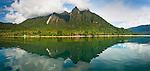 Mount Emensiri and reflection, Lobo Village, Triton Bay, Papua
