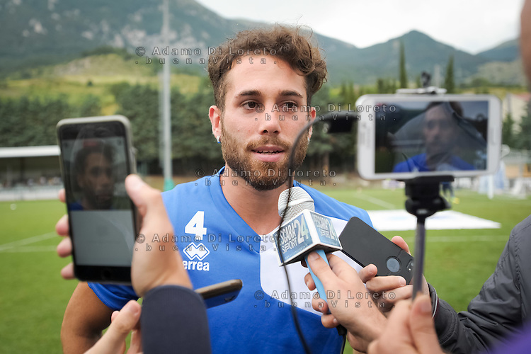 Francesco Zampano (Pescara) during the withdrawal preseason Serie A; match friendly between Pescara vs San Nicolò, on July 28, 2016. Photo: Adamo Di Loreto/BuenaVista*photo
