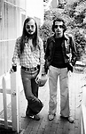 Steely Dan 1977 Walter Becker and Donald Fagen at the Bel Air Hotel<br /> &copy; Chris Walter