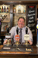 The Fountain Bridge carvery restaurant and pub at Sutton in Ashfield, Nottinghamshire is a finalist for the Pint Perfection award. Pictured is licencee Michael Perry.