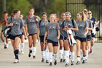 SAN ANTONIO, TX - AUGUST 23, 2015: The Sam Houston State University Bearkats defeat the University of Texas at San Antonio Roadrunners 2-1 in extra time at the UTSA Park West Athletics Complex. (Photo by Jeff Huehn)