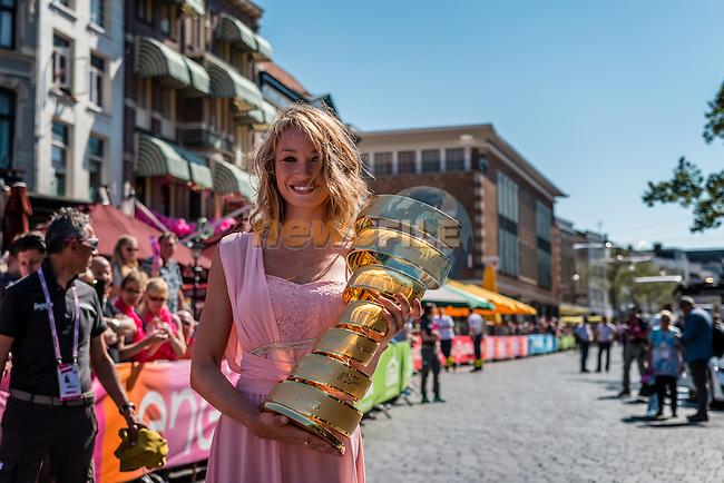 Giro d'Italia trophy before the start at Nijmegen, stage 3 from Nijmegen to Arnhem running 190 km of the 99th Giro d'Italia (UCI WorldTour), The Netherlands, 8 May 2016. Photo by Pim Nijland / PelotonPhotos.com | All photos usage must carry mandatory copyright credit (Peloton Photos | Pim Nijland)