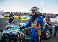Jul 29, 2016; Sonoma, CA, USA; NHRA funny car driver Ron Capps during qualifying for the Sonoma Nationals at Sonoma Raceway. Mandatory Credit: Mark J. Rebilas-USA TODAY Sports