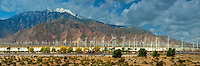 Palm Springs, Train Station, Train Moving, San Gorgonio Pass, CA, Panorama,  Coachella Valley, Awesome CGI Backgrounds, High dynamic range imaging (HDRI or HDR) ,Beautiful Background