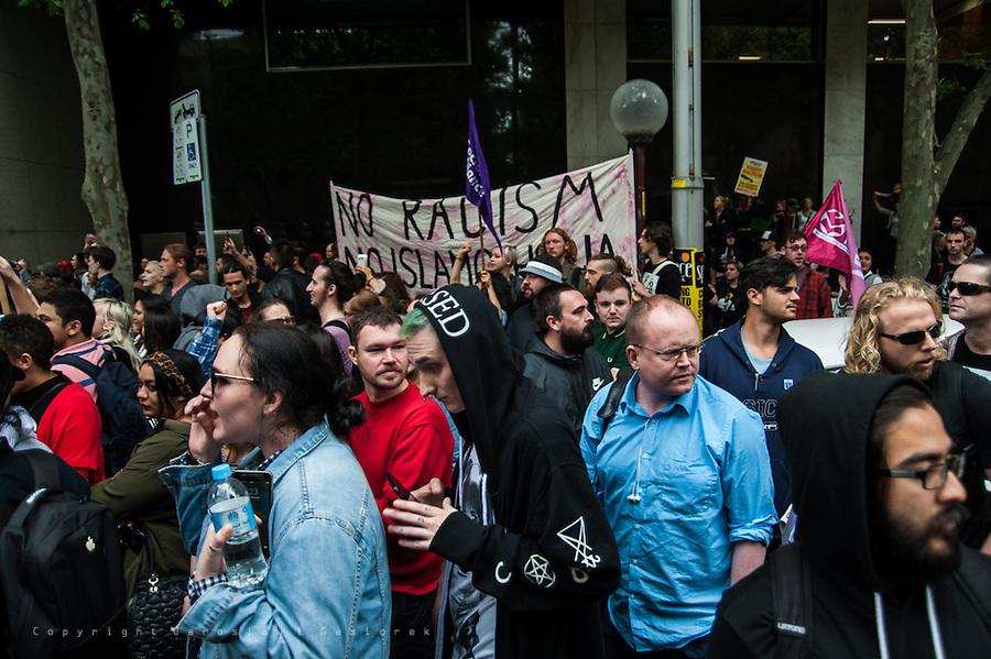No to racism, no to Reclaim Australia, Sydney rally 22.11.15