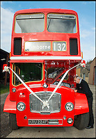 BNPS.co.uk (01202 558833)<br /> Pic: TomWren/BNPS<br /> <br /> Trevor Shore inspects the original engine on his Bristol FLF Lodekka double-decker.<br /> <br /> A bus enthusiast who once ran into a burning building to rescue a double-decker has saved it again after buying it for a restoration project 40 years later.<br /> <br /> Trevor Shore was an 18-year-old conductor when he repeatedly dashed into a blazing bus station in 1976 to drive three of the vehicles to safety in the nick of time.<br /> <br /> Forty years on and Trevor, 58, from Poole, Dorset, has saved one of the three Bristol FLF Lodekka double-deckers from leaving the country after buying it for &pound;13,000.