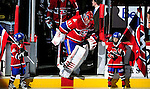 26 October 2009: Montreal Canadiens' goaltender Jaroslav Halak takes to the ice prior to facing the New York Islanders at the Bell Centre in Montreal, Quebec, Canada. The Canadiens defeated the Islanders 3-2 in sudden death overtime for their 4th consecutive win. Mandatory Credit: Ed Wolfstein Photo