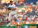 10 July 2008: Washington Nationals' starting pitcher Jason Bergmann on the mound during a game against the Arizona Diamondbacks at Nationals Park in Washington, DC. The Diamondbacks defeated the Nationals 7-5 in 11 innings to take the rubber match of their 3-game series in the Nation's Capitol...Mandatory Photo Credit: Ed Wolfstein Photo