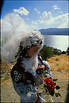 Khial Ali, 17, is a Kurdish bride. Zarivar Lake, Marivan, Iran. September 1998