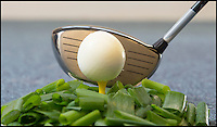 BNPS.co.uk (01202 558833)<br /> Pic: PhilYeomans/BNPS<br /> <br /> ***Please Use Full Byline***<br /> <br /> The Sports Huevos golf ball egg. <br /> <br /> This bonkers kitchen gadget is ruffling a few feathers among sports fans - because it turns eggs into golf balls.