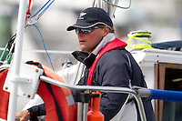 Midnight Express skipper John Osborne at the Wellington restart of Round North Island two-handed yacht race. Wellington, New Zealand. 2 March 2011. Photo: Gareth Cooke/Subzero Images