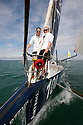 3rd August 2010 . Cowes. Isle of Wight. Artemis Challenge..Pictures of Zara Phillips and Amy Williams on board the Artemis Ocean Racing Team, Helmsman Simon Hiscocks (GBR)..Mandatory credit: Lloyd Images