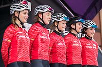 Picture by Alex Whitehead/SWpix.com - 11/05/2017 - Cycling - Tour Series Round 2, Stoke-on-Trent - Matrix Fitness Grand Prix Series - Team Breeze.<br /> Megan Barker<br /> Emily Nelson<br /> Ellie Dickinson<br /> Elinor Barker<br /> Manon Lloyd