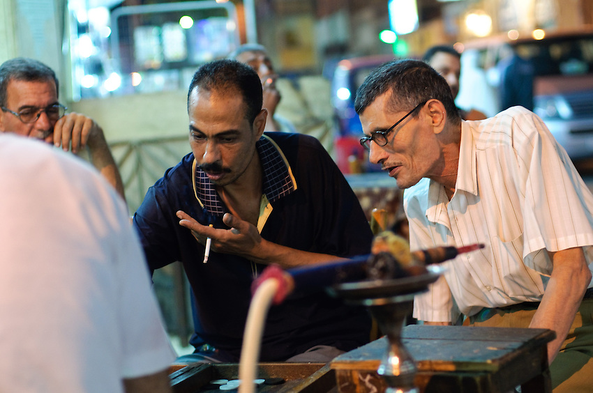 A coffee shop scene in Alexandria