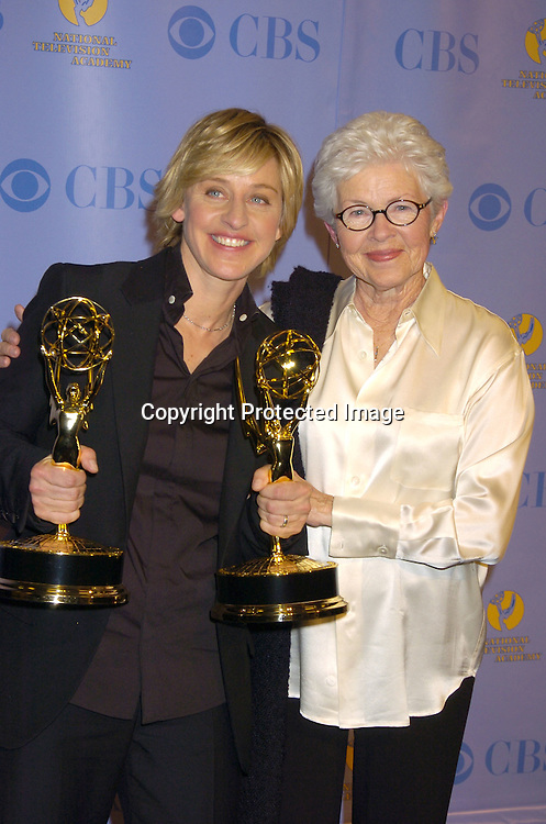 Ellen Degeneres and her mom Betty..at The 32nd Annual Daytime Emmy ...