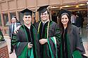 Stephen Morris, left, Aleksey Tadevosyan, Felicia Bahadue. Commencement class of 2013.
