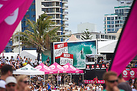 """SNAPPER ROCKS, Queensland/Australia (Saturday, March 5, 2011) -Competition in The Roxy Pro Gold Coast, the opening event of the 2011 ASP Women's World Title season, will recommenced today at 12:30pm...With building two-to-three foot (1 metre) waves on offer at the primary venue of Snapper Rocks, event organisers  completed the six heats of Round 2 and all of Round 3 today. World Champion Stephanie Gilmore (AUS) won both her Heats today..""""Conditions have cleaned up and we're seeing the first signs of swell this afternoon so we've called Round 2 of the women's competition on at 12:30pm,"""" Rich Porta, ASP International Head Judge, said. """"We're expecting conditions to improve throughout the afternoon with the possibility of running Round 3 as well.""""..Up first this morning will be Rebecca Woods (AUS), 26, battling rookie Courtney Conlogue (AUS), 18, in the opening women's heat of Round 2...Photo: joliphotos.com"""