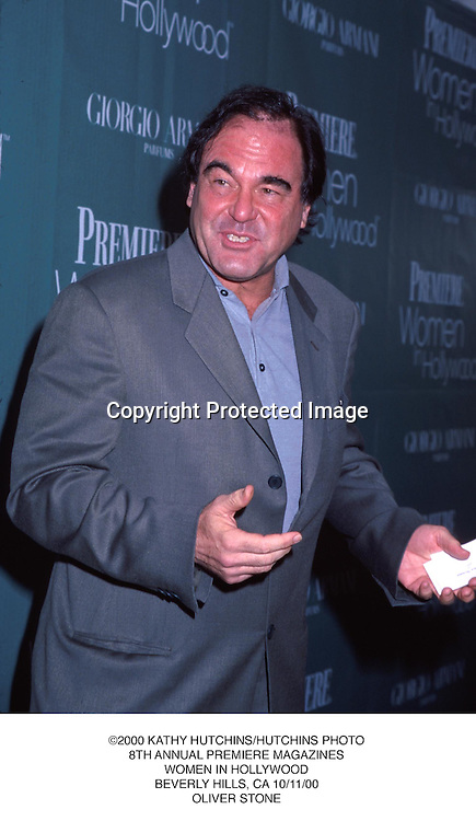 ©2000 KATHY HUTCHINS/HUTCHINS PHOTO.8TH ANNUAL PREMIERE MAGAZINES.WOMEN IN HOLLYWOOD.BEVERLY HILLS, CA 10/11/00.OLIVER STONE