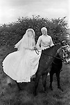Gawthorpe May Day Yorkshire England 1974. Prince Charming and his bride.